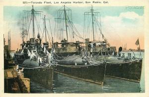 CA, Los Angeles, California, Military, Torpedo Fleet, M. Kashower No. No. 7481