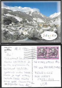 Austria, Solden, 1377m, Tirol, mailed to USA