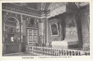 Palace of Versailles France early postcard Louis XIV bedroom