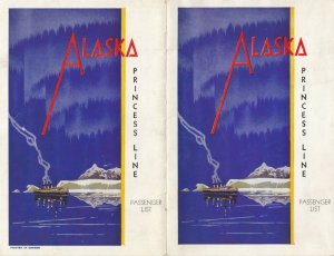 PRINCESS LINE to Alaska , 1939 ; Passenger List