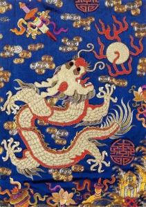 Postcard Imperial Five-Clawed Dragon, Detail from a Dragon Robe