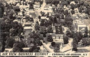 Cornwall On Hudson New York Birdseye View Of City Real Photo Postcard K67328