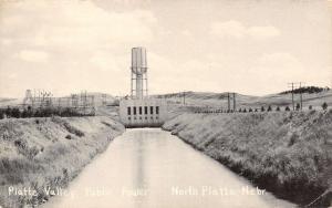 North Platte Nebraska~Platte Valley Public Power Station~1950s B&W Postcard