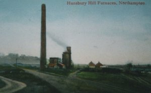Hunsbury Hill Factory Furnaces Northampton WW1 Old Postcard