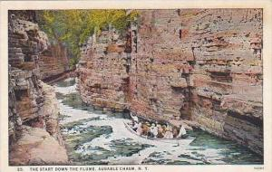 New York Ausable Chasm The Start Down The Flume