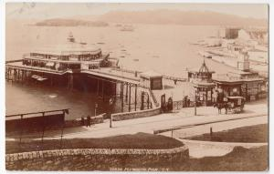 Devon; Plymouth Pier RP PPC, 1905 PMK, By Photochrom, Note Horse Drawn Van