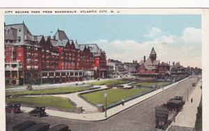 City Square Park From Boardwalk, Atlantic City, New Jersey, 1910-1920s