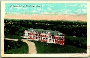 Vicksburg, Mississippi Postcard Bird's-Eye View ALL SAINTS COLLEGE Kropp c1930s