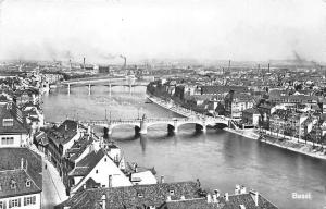 Switzerland Basel Bridges River Ponts Panoramic view
