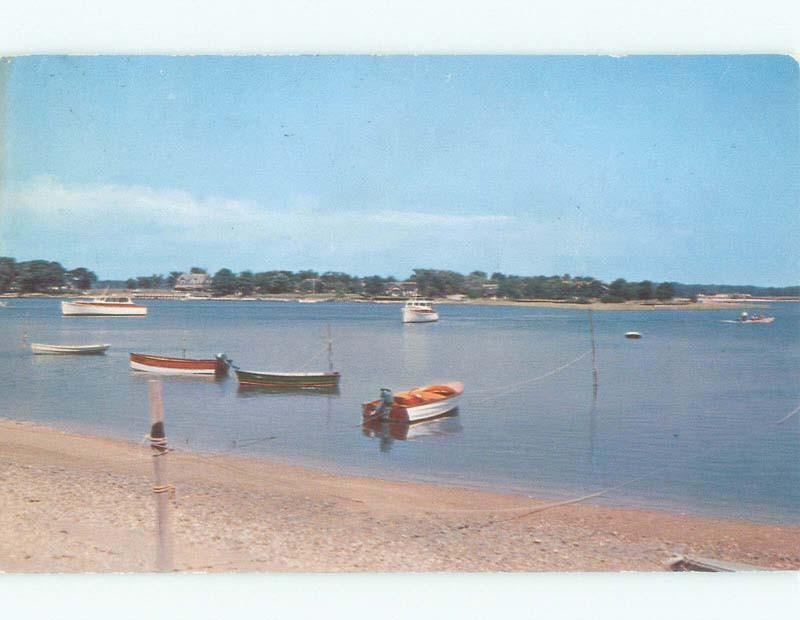 1950 S Boats On Beach Silver Shelter Island Long Ny D7767