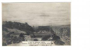 Real Photo British PC - Edinburgh Castle/Princes St/Caledonian Hotel - Unused