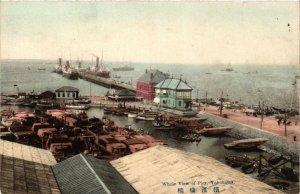 PC CPA YOKOHAMA Whole view of Pier JAPAN (a9194)