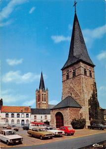 Belgium Dottignies Vieux clocher et la main symbolique