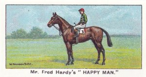 Happy Man Winners On The Turf 1923 Ascot Gold Cup Horse Racing Cigarette Card