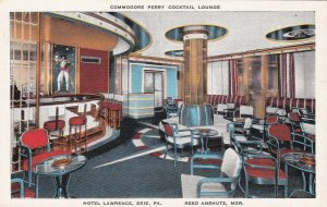 Pennsylvania Erie Hotel Lawrence Commodore Perry Cocktail Lounge s6698
