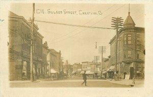 1910 Crestline Ohio Sulser Street View Clothing Store Galion RPPC Postcard
