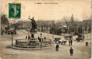 CPA  Agen - Place du XIV-Juillet  (638622)