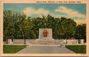 Minnesota MN Rochester Mayo Park Doctors Memorial Postcard Old Vintage Card View