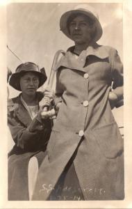 S S Roosevelt Daisy Wilson and Ruth Nelson 25 August 1914 Real Photo