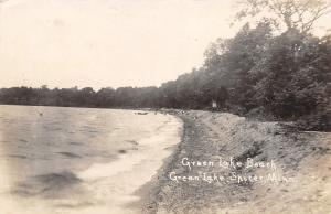 Spicer Minnesota~Green Lake Beach~Boat at Dock~1920s Real Photo Postcard~RPPC