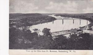 View up the Ohio from Ft. Boreman, Parkersburg, West Virginia, PU-1900