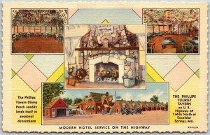 Excelsior Springs, Missouri Postcard THE PHILLIPS TOURIST TAVERN Roadside Linen