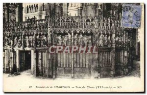 Old Postcard Chartres Cathedrale From Around The Choir