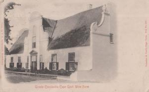 Groote Constantia Wine Estate Farm Cape Gout Antique South African Postcard