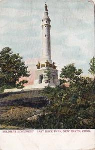 Connecticut New Haven Soldiers Monument East Rock Park 1906