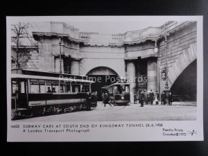London Tram SUBWAY CARS AT KINGSWAY TUNNEL c1908 Pamlin Print Postcard M432