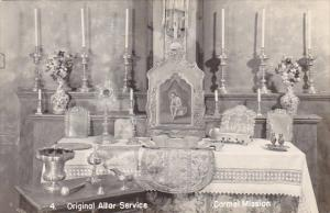 California Carmel Original Altar Service Carmel Mission Real Photo
