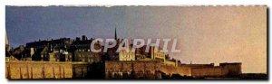 Postcard Modern Evening d & # 39ete on Saint Malo Ramparts