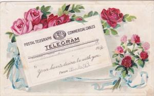 Postal Tellegraph Telegram Postcard