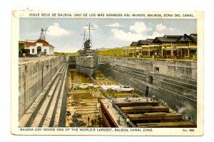 Panama - Canal Zone. Balboa Dry Docks