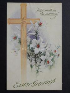 Greetings: EASTER GREETING Joy Cometh in the Mornin c1941 by J Salmon No.4369