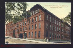 NEW LONDON CONNECTICUT BRAINERD AND ARMSTRONG SILK MILL OLD POSTCARD CT.
