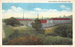 Fort Madison Iowa 1937 Postcard State Prison Penitentiary