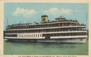 BOB-LO ISLAND PARK , Ontario , 1940 ; Steamer S.S. COLUMBIA