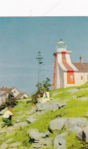 LIGHTHOUSE, Point Prim Light Near Digby, Nova Scotia, 40-60s; Marks The Entrance