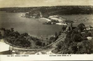 australia, SYDNEY, Middle Harbour, Spit (1930s) Southern Cross Series 15 RPPC