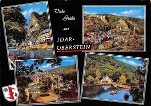 Viele Gruesse aus Idar-Oberstein Gesamtansicht River Boats Bateaux Panorama