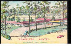 WALTERBORO, South Carolina, 1940-1960's; Travelers Motel, U.S. Higway 15