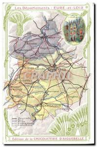 Old Postcard geographical maps of Chocolaterie & # 39Aiguebelle Eure et Loir ...