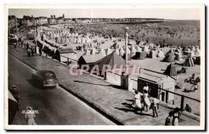 Old Postcard Sables D Olonne Beach