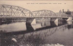 Maine Auburn South Bridge Over Androscoggin River