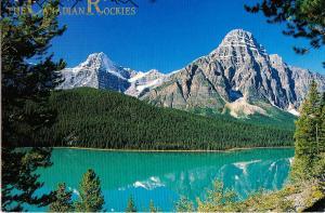 The Canadian Rockies, Waterfowl Lake, used Postcard