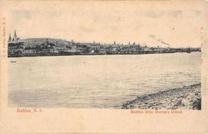 Halifax Nova Scotia Canada View From Georges Island Antique Postcard K12408