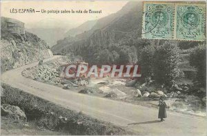 Old Postcard The Espana A sober the paisaje ruta Bosost