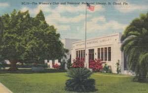 ST CLOUD , Florida , 30-40s ; Woman's Club & Vetern's Memorial Library