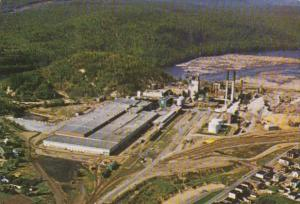 Canada Quebec La Tuque International Paper Company Aerial View